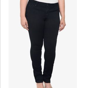 🕷BLack luxe skinny Jeans 26 tall